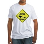Talking Ducks Crossing Fitted T-Shirt