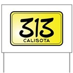 313 License Plate Yard Sign