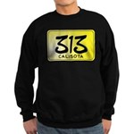 313 License Plate Sweatshirt (dark)