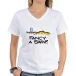 Fancy a Swim? Women's V-Neck T-Shirt