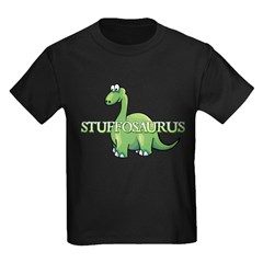 Stuffosaurus Logo Kids Dark T-Shirt