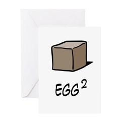 Square Egg Greeting Card