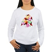  Hawaiian-style 'I'iwi Women's Long Sleeve T-Shirt