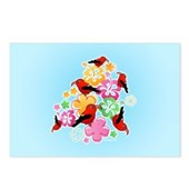  Hawaiian-style 'I'iwi Postcards (Package of 8)