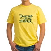 Dives Well With Others Yellow T-Shirt