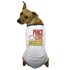 Peace, Love, Twilight Shirts Dog T-Shirt