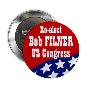 Re-Elect Bob Filner, progressive stalwart in the United States Congress.  Go, Bob, Go!  (Pro-Filner button)