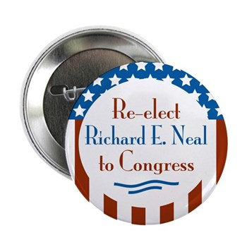 Re-elect Richard E. Neal to the U.S. Congress (Patriotic Red White and Blue Congressional Campaign Button)