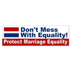 Protect Marriage Equality bumper sticker
