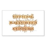 Official Halloween Costume Rectangle Sticker 10 p