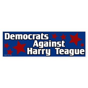 Democrats Against Harry Teague Bumper Sticker