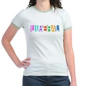 Colorful Retro Liberal Jr. Ringer T-Shirt