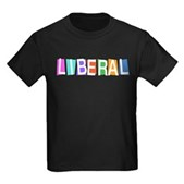 Colorful Retro Liberal Kids Dark T-Shirt