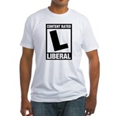 Content Rated Liberal Fitted T-Shirt