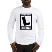 Content Rated Liberal Long Sleeve T-Shirt