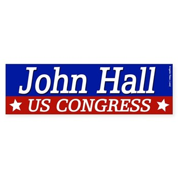 John Hall for U.S. Congress bumper sticker (gear for the New York Congressional Race)