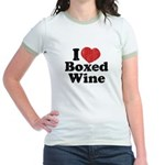 I Heart Boxed Wine Jr. Ringer T-Shirt