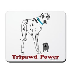 Dress up your desktop and support the Tripawds Community with inspawrational three legged dog mousepads including daily reminders to Be Pawsitive, and more!