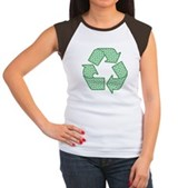 Path to Recycling Women's Cap Sleeve T-Shirt