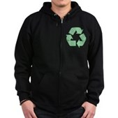 Path to Recycling Zip Hoodie (dark)