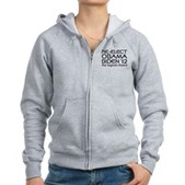 Logical Obama 2012 Women's Zip Hoodie