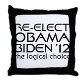 Logical Obama 2012 Throw Pillow