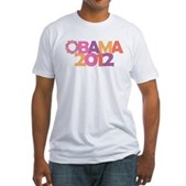Obama Flowers 2012 Fitted T-Shirt