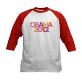Obama Flowers 2012 Kids Baseball Jersey
