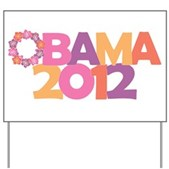 Obama Flowers 2012 Yard Sign
