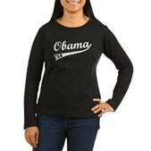 Obama 2012 Swish Women's Long Sleeve Dark T-Shirt