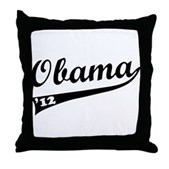 Obama 2012 Swish Throw Pillow