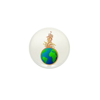 Blooming Earth Mini Button (10 pack)
