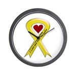 Yellow Ribbon Love Miss Sailor Wall Clock