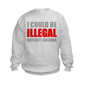 Could Be Illegal - Boycott AZ Kids Sweatshirt