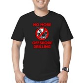 No More Offshore Drilling Men's Fitted T-Shirt (da