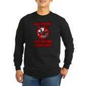 No More Offshore Drilling Long Sleeve Dark T-Shirt