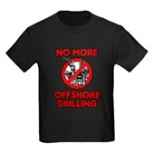 No More Offshore Drilling Kids Dark T-Shirt