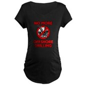 No More Offshore Drilling Maternity Dark T-Shirt