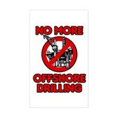 No More Offshore Drilling Sticker (Rectangle)