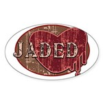 Urban Grunge Jaded Sticker (Oval)