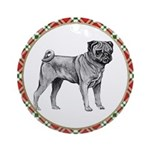 Black Pug Ornaments