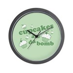 Cupcakes Are Da Bomb Wall Clock