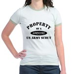 Propert of a US Army Scout Jr. Ringer T-Shirt