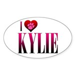 I Heart Kylie Sticker (Oval 50 pk)