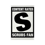Content Rated S: Scrubs Fan Rectangle Magnet