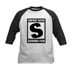 Content Rated S: Scrubs Fan Kids Baseball Jersey