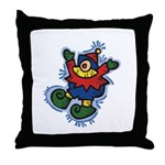 Santaand#039;s Elf Throw Pillow
