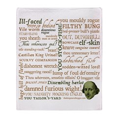 Shakespeare Insults T-shirts & Gifts Throw Blanket