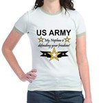 Army My Nephew is defending Jr. Ringer T-Shirt