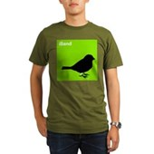 iBand (green) Organic Men's T-Shirt (dark)